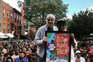 Spike Lee and Danny Aiello at the Do The RIght Thing 30th Anniversary Celebration